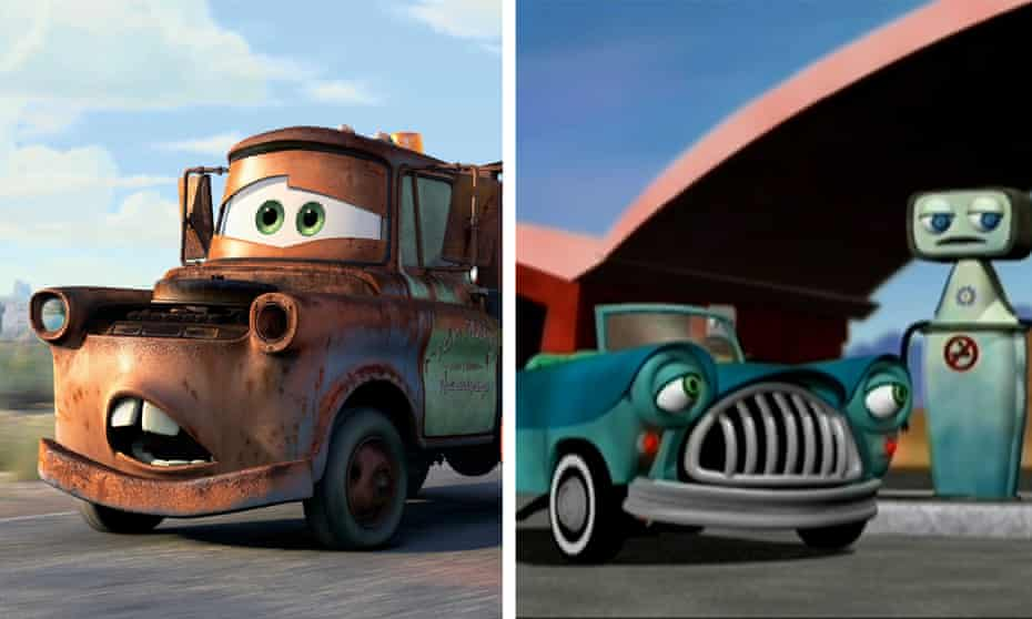 Fancy a race? … The Little Cars, right, was released in 2006, the year that Pixar's Cars came out.