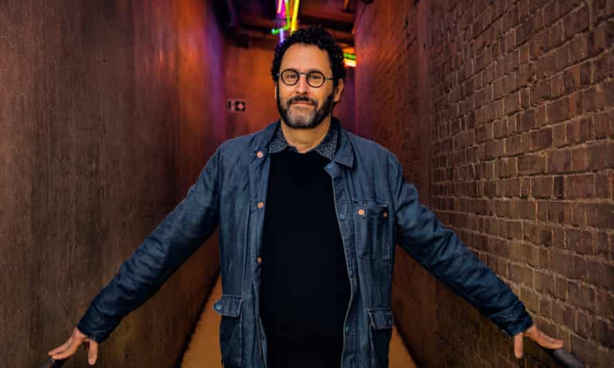 Theatricality … Tony Kushner backstage at the National Theatre, during the run of Angels in America.