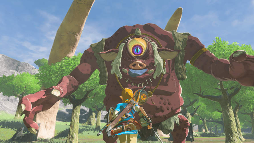 Monster mash … a screenshot from The Legend of Zelda: Breath of the Wild.