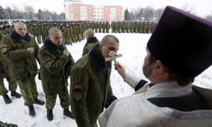 Christmas at a military base in Minsk