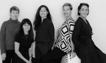 Five members of the Tonic team (Patricia Sheahan, Aileen Marr, Marina Go, Ute Junker, Megan Morton), photographed by Carlotta Moye, who is also part of our team.