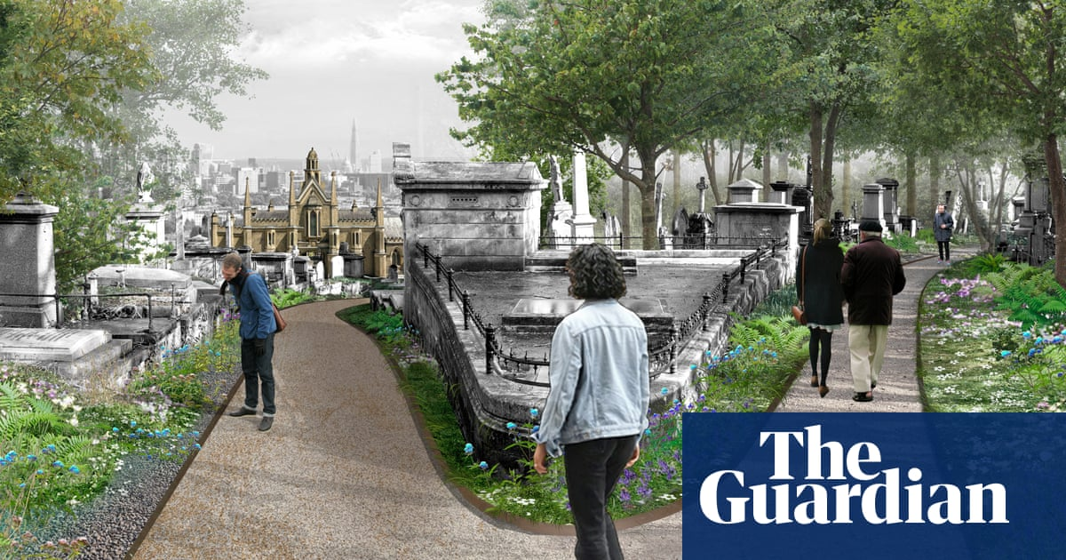 Highgate cemetery revamp to fell trees and open views across London