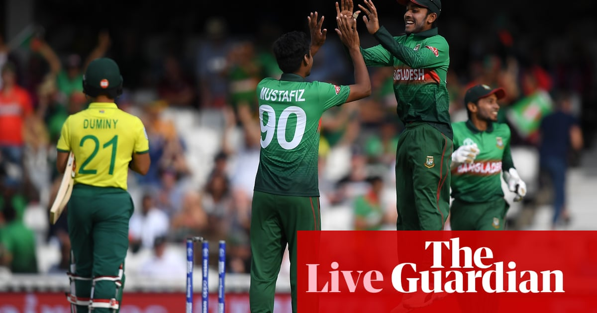 Bangladesh Beat South Africa In Cricket World Cup Shock As