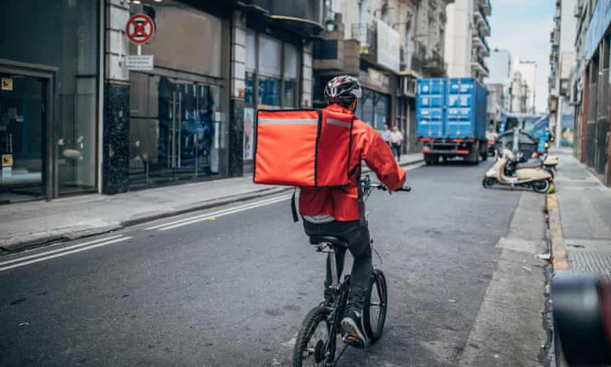 Use local restaurants with their own delivery staff.
