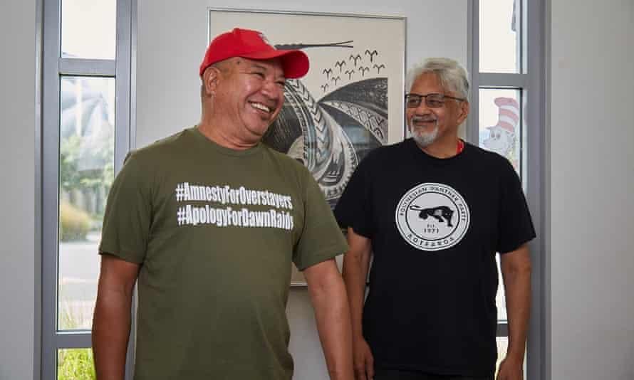 Kennedy Maeakafa Fakana'ana'aki-Fualu (l) and Will 'Ilolahia at the Otahuhu community centre in Auckland, New Zealand