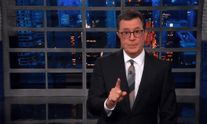 'Omarosa is just Trump's most recent adversary. His true nemesis is the free press.'...Stephen Colbert