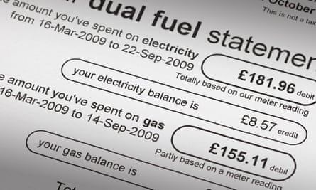 A gas and electricity bill.