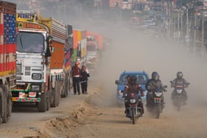 The expansion of Kathmandu's ring road has left commuters choking on dust and caught in hour-long traffic jams. Groups opposed to the road expansion also claim it is threatening the city's cultural heritage. '[Road expansion] is displacing the indigenous Newar people from their own land. Lots of heritage sites will be affected … Kathmandu needs to be preserved,' says Suraj Maharjan of the Save Nepa Valley campaign
