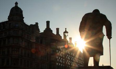 Sir Winston Churchill's statue in Parliament Square