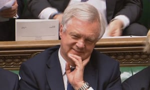 David Davis in parliament.