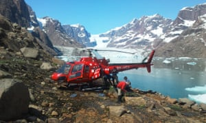 Researchers from the University of St Andrews working in the Paatusoq region, South Greenland.