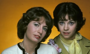 Penny Marshall, left, pictured with her Laverne & Shirley co-star Cindy Williams in 1975.