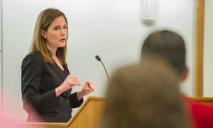 Amy Coney Barrett, pictured here in 2013. Trump is due to announce his selection on Saturday at the White House.