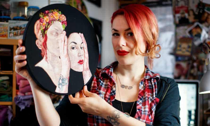 Jess de Wahls at her studio in south London.