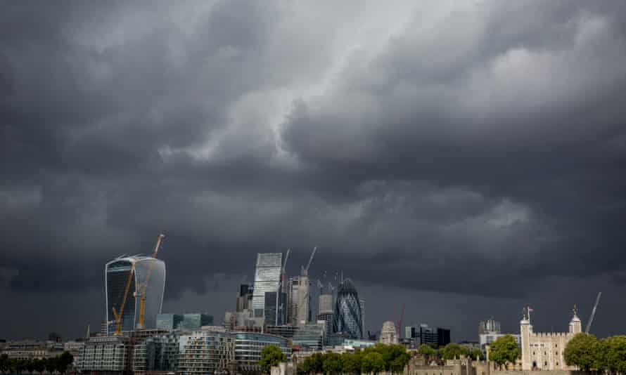 Dark clouds gathering over London