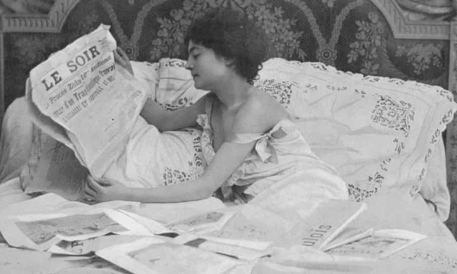 A Frenchwoman in her nightgown, Paris, 1900.