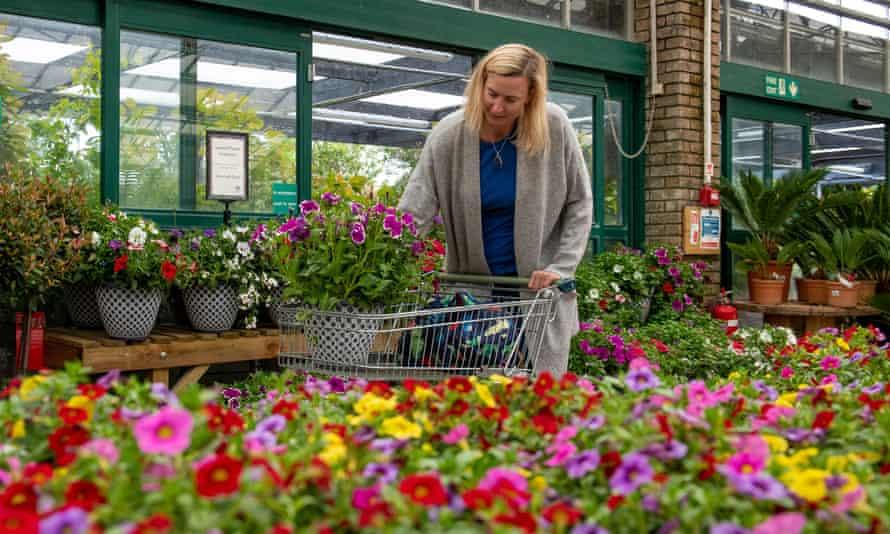Woman shopping at a garden centre