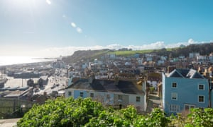 A view over Hastings' historic old town.