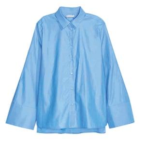 blue oversized shirt
