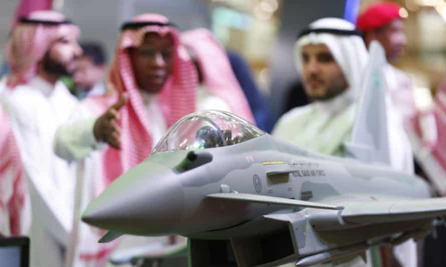 Model of a Saudi air force Typhoon jet