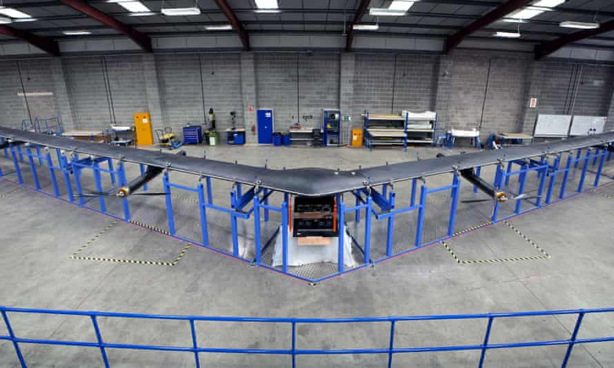 Aquila, a drone with a 42-metre wingspan built by social media company Facebook, was unveiled in July.