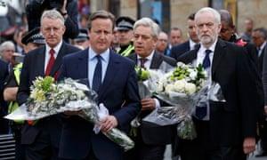 From left: Hilary Benn, David Cameron, John Bercow and Jeremy Corbyn.