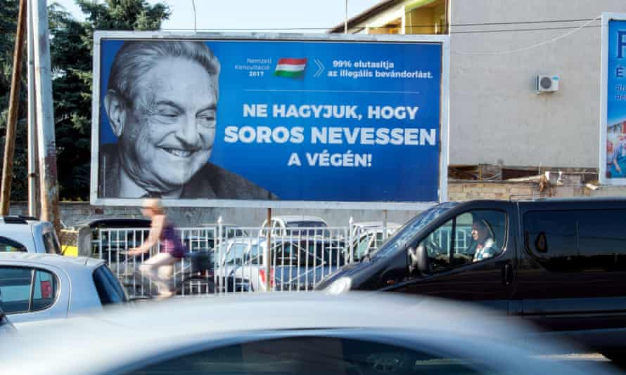 The head of Hungary's largest Jewish organisation says the campaign featuring Soros is 'poisonous'.
