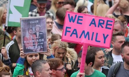 Belfast same-sex marriage rally.