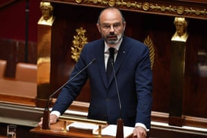 Edouard Philippe, France's prime minister, delivers his speech at the National Assembly in Paris