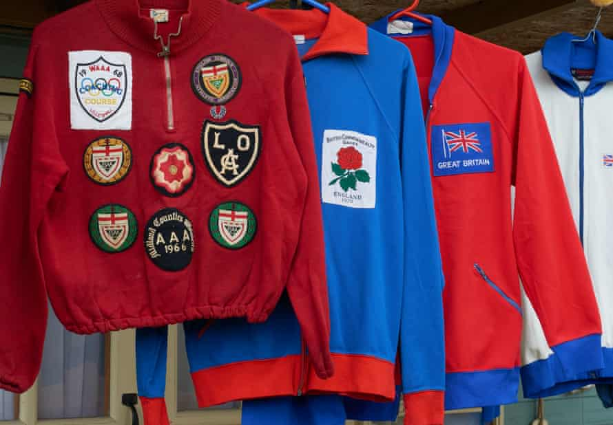 Some of Neil's old tracksuits.