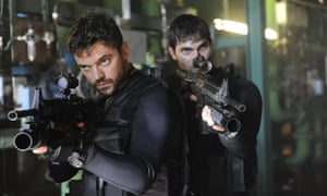 Dominic Cooper and Tyler Hoechlin in Stratton.