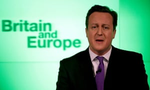 David Cameron pledges in 2013 to have an 'In-Out' referendum on whether Britain should leave the European Union.