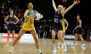 Australia's Kim Ravaillion and New Zealand's Laura Langman
