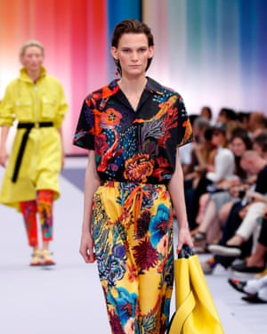 The colours in the Paul Smith show were inspired by the flora and fauna of the ocean.