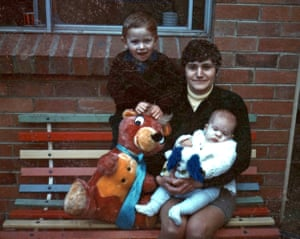 Maria James with her sons Mark and Adam in about 1970