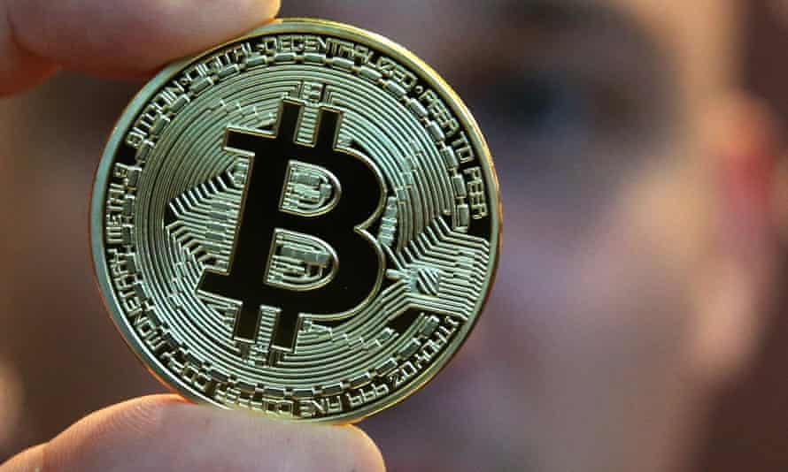 A bitcoin souvenir coin