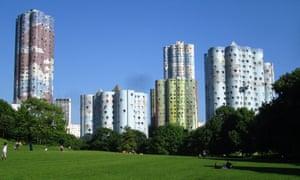 Continental colour: housing blocks in Nanterre, France.