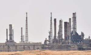 An Aramco oil facility near al-Khurj area, just south of the Saudi capital Riyadh.