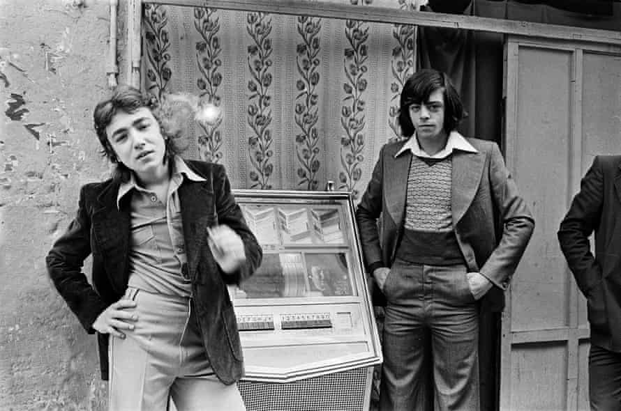 Confronted … young mafiosi in 1977.