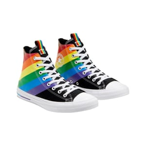 Converse marks its five-year anniversary celebrating Pride, having donated more than $1,000,000 in support of local and global LGBTQIA+ organisations, including longstanding partner It Gets Better Project. This year, Converse has pledged to support It Gets Better Project, Ali Forney Center, BAGLY and OUT MetroWest with charitable contributions from its Pride collection. High tops, £60, converse.com