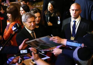 Harrison Ford has his work cut out for him with signing autographs