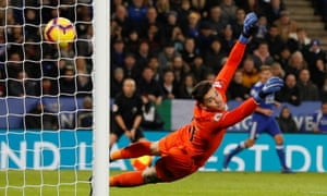 Ricardo Pereira of Leicester City scores a goal to make it 2-1.