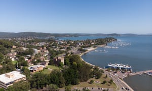 Aerial view of Gosford.