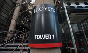 A sign for one of the towers of the Lloyd's of London headquarters
