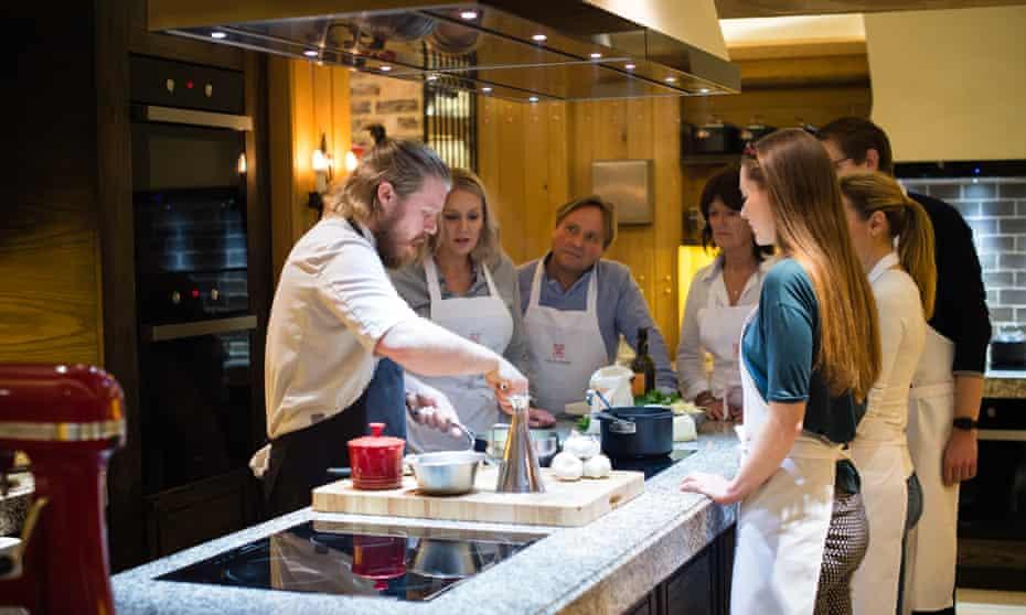 Angela Hartnett and Luke Holder's cookery school at Lime Wood, New Forest, England