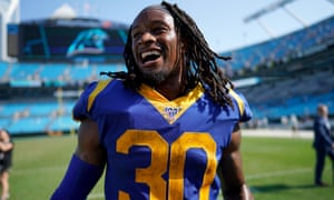 Todd Gurley walks off the field after his team's opening win of the season