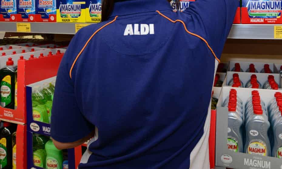 Aldi supermarket worker