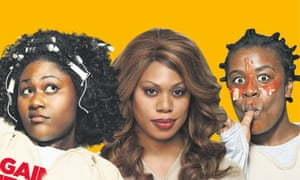 Taystee (Danielle Brooks), Sophia (Laverne Cox) and Crazy Eyes (Uzo Aduba) in Orange Is the New Black.