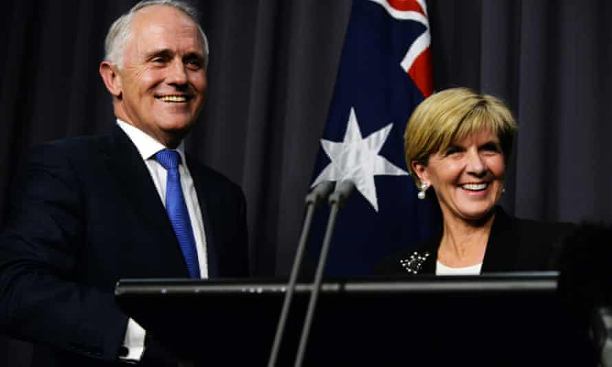 Malcolm Turnbull and Julie Bishop