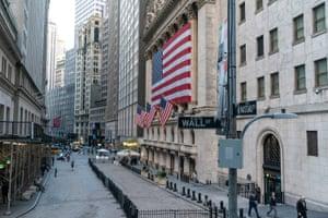The New York Stock exchange yesterday